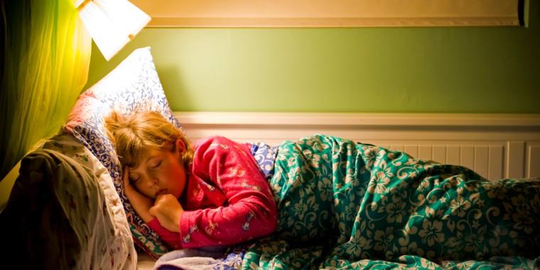 9-year-old girl sleeping